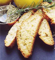 Lemon and Rosemary Biscotti